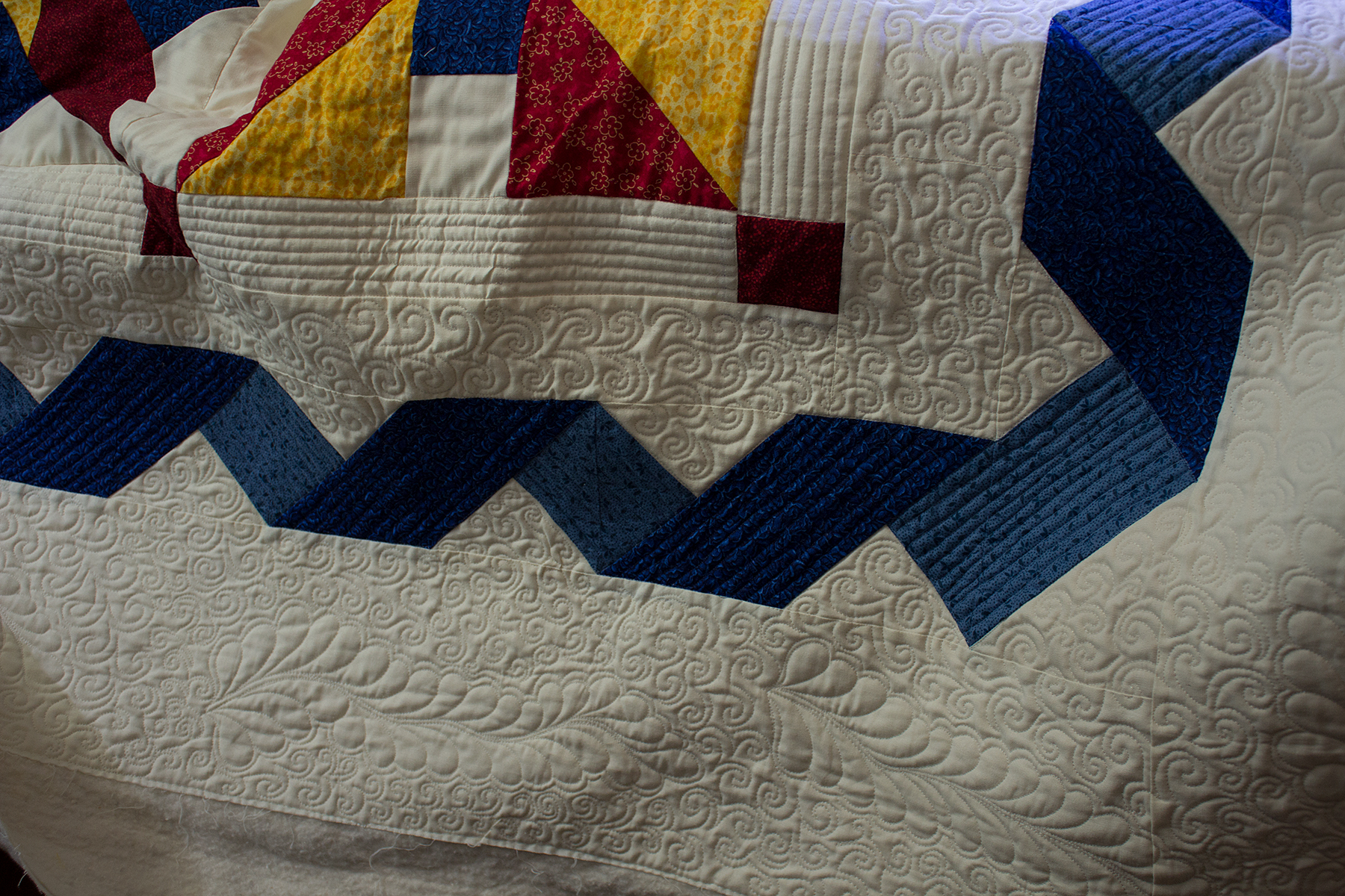 Victory Quilt: Border Quilting Done Hobby Stash