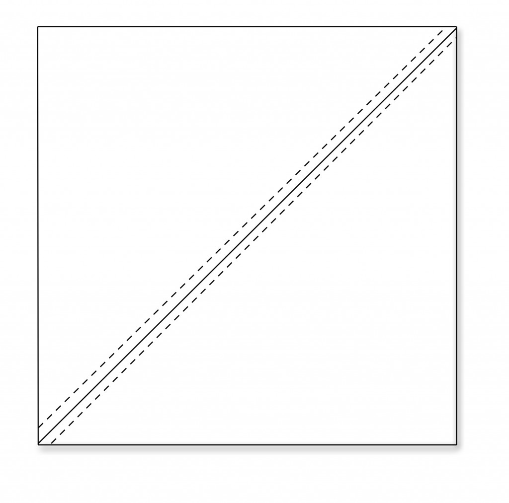 Half square triangle sewing
