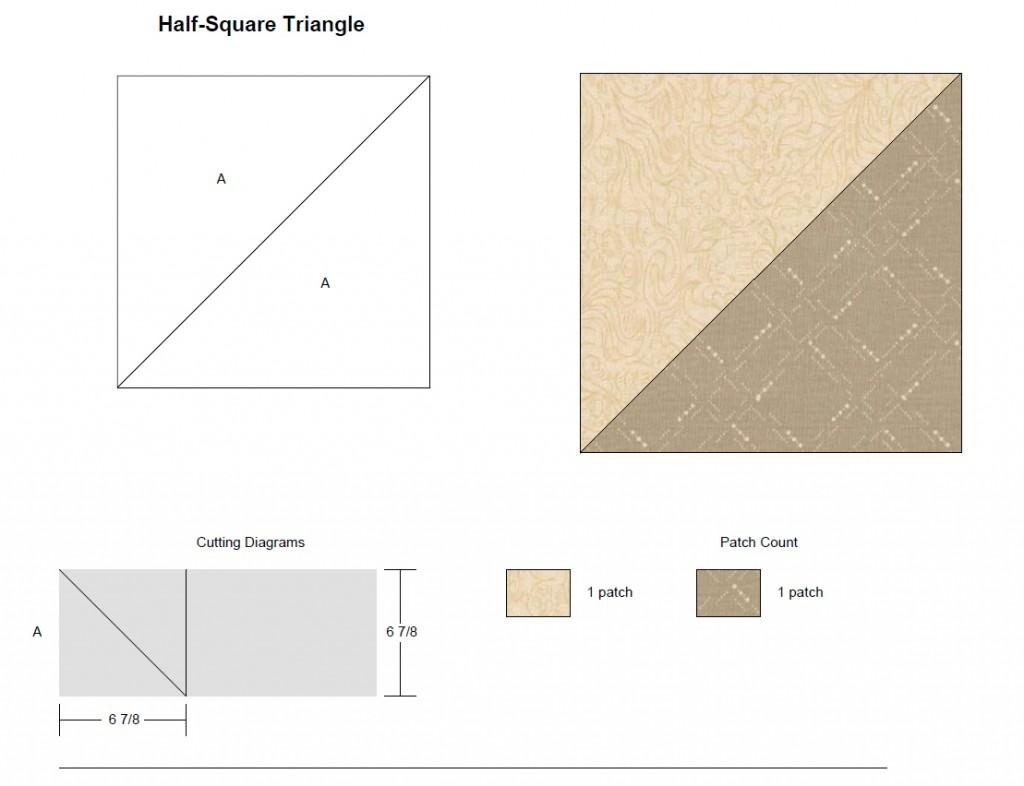 Half Square Triangle Block