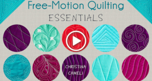 Free-Motion Quilting Essentials with Christina Cameli