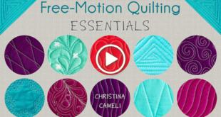 Free-Motion Quilting Essentials with Christina Cameli